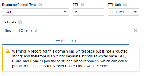 How to enter TXT values in Google Cloud DNS - Mailhardener blog